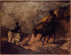 Réunion des Musées Nationaux-Grand Palais -Don Quichotte et Sancho Pança  Daumier Honoré (1808-1879)  Allemagne, Berlin, Nationalgalerie, Staatliche Museen zu Berlin
