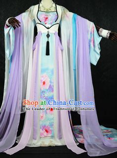 $355 Gorgeous Chinese Fairy Princess Empress Queen Cosplay Costumes Ancient Chinese Clothing Complete Set for Women