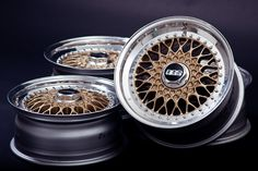 Gold and polished BBS RS wheels