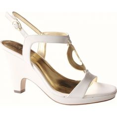 SALE - Anne Klein Xylina Mid Heels Womens White - Was $85.00 - SAVE $18.00. BUY Now - ONLY $67.45