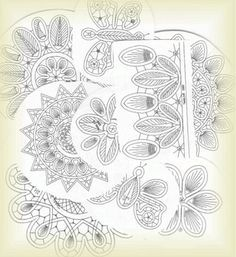 Romanian Point Lace patterns