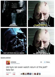 Or this confirmation that little Benji isn't entirely caught up on his Star Wars canon. | 21 Tumblr Posts That Perfectly Capture Kylo Ren: