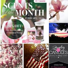 All month long enjoy 20% OFF Pink Magnolia Blossom and American Strong candles and tarts! No coupon required. Pink Magnolia Blossom: sweet and floral with subtle hints of lemon American Strong: a spicy balance of patchouli vanilla and sandalwood.  Come visit http://ift.tt/1IeUHGb  #candles #ecofriendly #healthy #lush #sale #nvusddjic #jewelry #homedecor #interiordesign #spa #relax #yogi #sahm #bosslife #military #magnolia #love