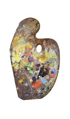 Claude Monet's paint palette