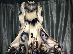 Day of the Dead corpse bride Costume wedding dress womens size