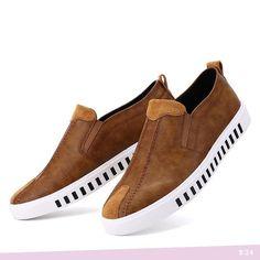 US $24 Handmade Men Genuine Leather Shoes Simple Mens Casual Flats Male Fashion Casual Big Size Dress Preppy Hip Hop Leisure