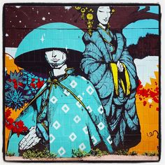 Rétro graffitism @ Paris avec l'association Art Azoï  Photo : Lionel Belluteau Plus de photos sur http://ift.tt/YMhG58  @retrograffitism @artazoi #retrograffitism #artazoi #graffiti #retro #paris #parisgraffiti #urbanart #wallpainting #urbanartparis #graffuturism #unoeilquitraine #streetart #art #lionelbelluteau @unoeilquitraine