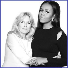( Michelle Obama and Jill Biden ) Remember when these ladies bonded and worked diligently together? Great Women, Amazing Women, Joe Biden, Black Is Beautiful, Beautiful People, Durham, First Black President, Vice President, Presidente Obama