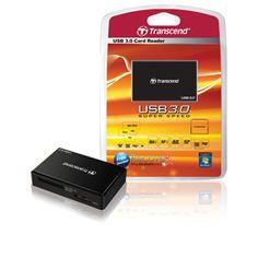 Multi lector de tarjetas USB 3.0 DRF8 Transcend compatible con todos los nuevos formatos de tarjetas. #ordenador, #usb, #pc, #computer, #informatica, #computing, #lector, #transcend, #tarjetas, #card, #cardreader.