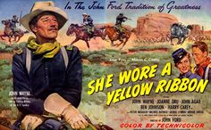 She Wore a Yellow Ribbon is a 1949 Technicolor Western film directed by John Ford and starring John Wayne. Description from imgarcade.com. I searched for this on bing.com/images