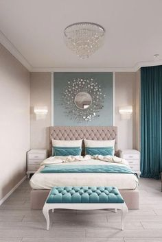 11 Modern and Luxurious Bedrooms With Baroque Style #bedroomsdecor Wallpaper for the wall design and ideas Wallpaper for the wall design and ideas Simple Bedroom Design, Luxury Bedroom Design, Design Room, Master Bedroom Design, Home Decor Bedroom, Home Design, Design Ideas, Bedroom Furniture, Bedroom Designs
