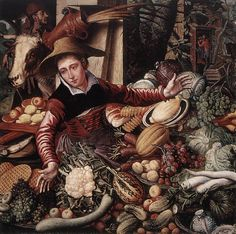 Aertsen, Pieter (b. 1508-09, Amsterdam, d. 1575, Amsterdam). Netherlandish painter, active in his native Amsterdam and in Antwerp    Vendor of Vegetables    This is one of my fave garb images....    http://www.ibiblio.org/wm/paint/auth/aertsen/vendor-vegetable.jpg
