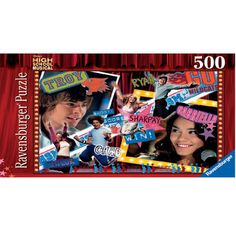High School Musical 500 Piece Puzzle Can you piece together all the stars from the Disney musical? 500 piece jigsaw puzzle featuring Gabriella, Troy and more! An ideal puzzle for any High School Musical fan.Colours and styles may vary. http://www.comparestoreprices.co.uk/childs-toys/high-school-musical-500-piece-puzzle.asp
