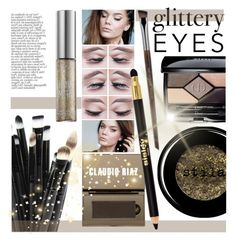"""""""Glittery Eyes"""" by leatherlena ❤ liked on Polyvore"""