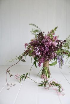 Rustic Wedding Bouquets / Lilacs. Florist Charmain of Emblem Flowers shares her tips...
