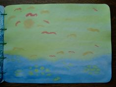 Waldorf ~ grade ~ Old Testament Stories ~ Creation: Day Five ~ watercolor painting Grade 3, Fourth Grade, Third Grade, Wet On Wet Painting, Watercolor Painting, Teacher Boards, Old Testament, Teaching, Education