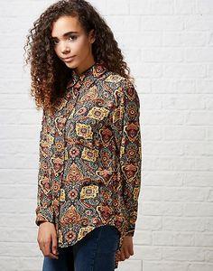 #ARKLOVES Glamorous Maidavale Folk Print Boyfriend Shirt #aw15 #trends #70s