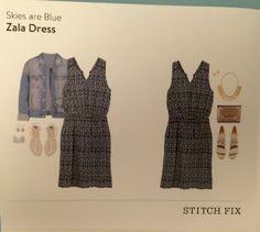 Savanna Styles: Skies are Blue Zala Dress