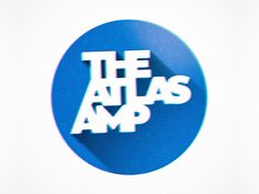 the atlas amp designed by Chris Corrado. Badge Logo, Band Logos, The Atlas, Show And Tell, Projects, Couple, Amp, Book Markers, Log Projects