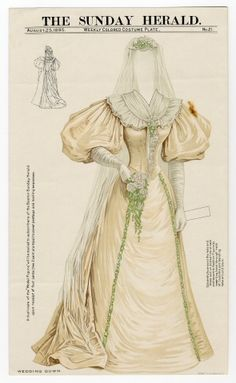 75.2335: Wedding Gown | wedding gown | Paper Dolls | Dolls | National Museum of Play Online Collections | The Strong