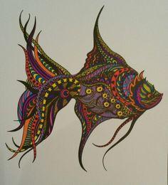 Mindfull kleuren Vis
