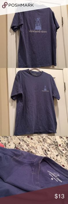 Vineyard vines tee Used has bleached spots around the neck and som of shoulder.  Not too bad on outside mostly on inside of neck. Price reflects damage Vineyard Vines Shirts Tees - Short Sleeve