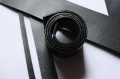 50 long Black 2.5 mm Thick BRIDLE BELT cowhide semi by Tradem