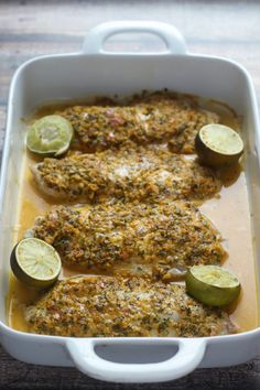 Snapper Barbados - super fast, easy, and healthy tropical fish recipe. YUM!
