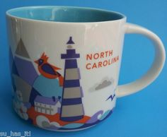 "99¢ eBay auction for a Starbucks ""You Are Here Collection"" North Carolina mug #starbucks #coffee #mugs"