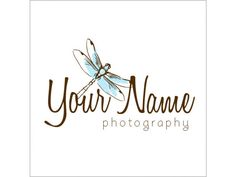 Dragonfly Logo - Photographer Logos - Photoshop Templates - Photography Marketing - Photographer Branding