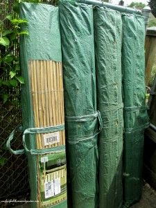 Split Bamboo Fencing/Screening in 13 ft X 5 ft rolls (comes in different sizes) - affordable way to dress up/hide chain link fencing, while adding a touch of extra privacy.