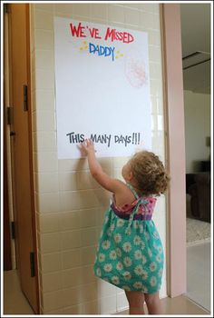 let kids add one sticker for every day your deployed service member is gone.  a fun way to keep them thinking of daddy [or mommy!] #marineparents