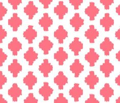 Coral ikat fabric for knit dresses