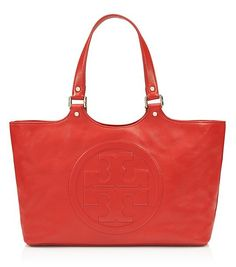 rich orange Tory Burch tote on sale for $249 http://rstyle.me/n/r84s5r9te