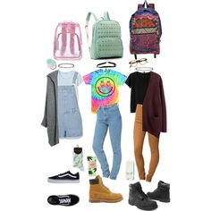 90s school outfits by stellaluna899 on Polyvore featuring polyvore, fashion, style, Acne Studios, MANGO, Monki, Topshop, Timberland, Vans and François Pinton