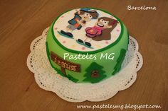 Gravity Falls Cake / Tarta: Un verano de Misterios. Mabel & Dipper. By Pasteles MG Barcelona.