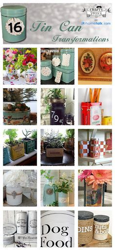 DIY & Crafts: 16 Cute & Crafty Tin Can Transformations!