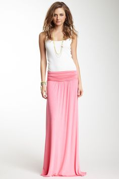 Frenzii Ruched Maxi Skirt/Dress on HauteLook