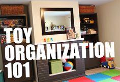 great tips on playroom organization