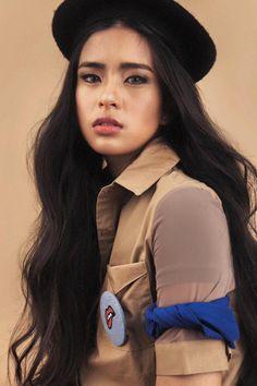 Gabbi Garcia as Jasmine de los Santos Gabbi Garcia, Pleasing People, Filipina Beauty, Fashion Illustration Sketches, Cool Hair Color, Jasmine, Tumblr Girls, Female Portrait, Queen