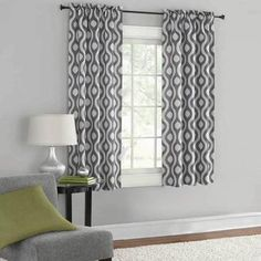 Charming Mainstays Thermal Print Woven Curtain Panels, Set Of 2, Multiple Colors