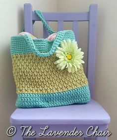 Brickwork Beach Bag- Free Crochet Pattern - The Lavender Chair