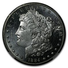 1884 CC Morgan Dollar MS-64 DPL NGC (Obv Struck Thru Error) $1 MS-64 NGC ** For more information, visit image link.
