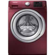 Samsung 4.2-cu ft High-Efficiency Stackable Front-Load Washer with Steam Cycle (Merlot) ENERGY STAR
