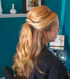 Created by Danielle Holmes half up hair do. Beauty and the Beast's Belle inspired hair!  @parlourdanielle
