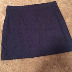 Gap eyelet mini skirt Navy mini skirt with eyelet detail. GAP Skirts Mini
