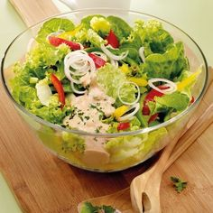 American Dressing - Karin M. Easy Tailgate Food, Tailgating Recipes, Weight Watchers Salat, Weight Watchers Meals, Vegetarian Recipes Dinner, Dinner Recipes, Healthy Recipes, Vinaigrette, Weith Watchers