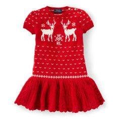 Reindeer Sweater Dress - Girls 2-6X Dresses & Skirts - RalphLauren.com