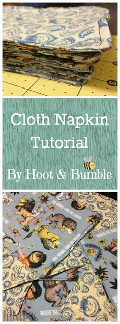 Cloth Napkin Tutorial- by Hoot & Bumble. Easy beginner sewing project Cloth Napkin Tutorial- by Hoot & Bumble. Easy Sewing Projects, Sewing Projects For Beginners, Sewing Hacks, Sewing Tutorials, Sewing Crafts, Sewing Patterns, Sewing Ideas, Sewing Tips, Diy Projects