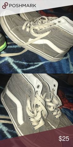15d9b6e154 Shop Women s Vans Gray White size Sneakers at a discounted price at  Poshmark.